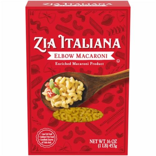 Zia Italiana Elbow Macaroni Pasta Perspective: front