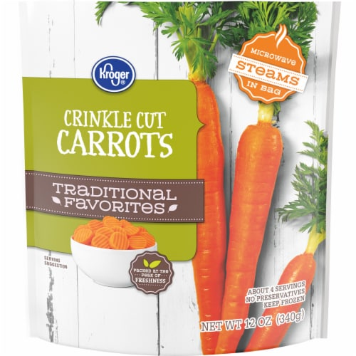 Kroger® Traditional Favorites Crinkle Cut Carrots Perspective: front