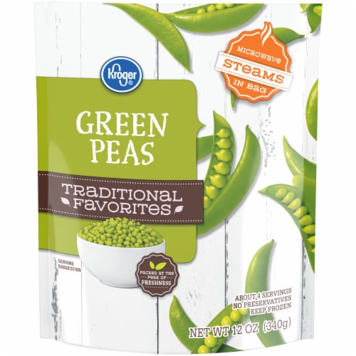 Kroger® Traditional Favorites Green Peas Perspective: front