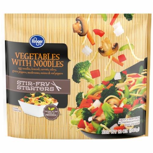 Kroger® Stir-Fry Starters Vegetables with Noodles Perspective: front