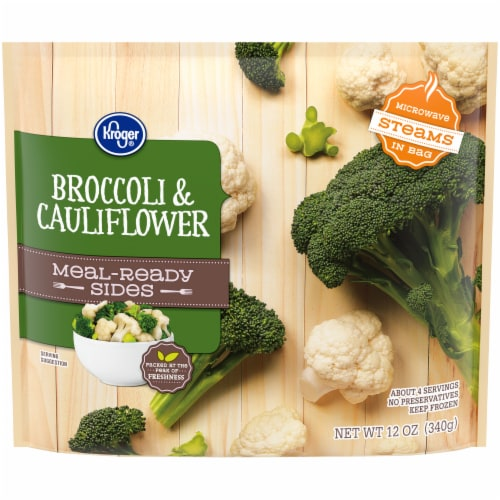 Kroger® Meal-Ready Sides Broccoli & Cauliflower Perspective: front