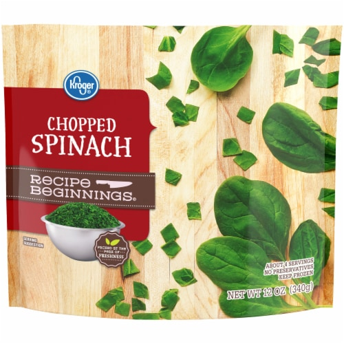Kroger® Recipe Beginnings Chopped Spinach Perspective: front