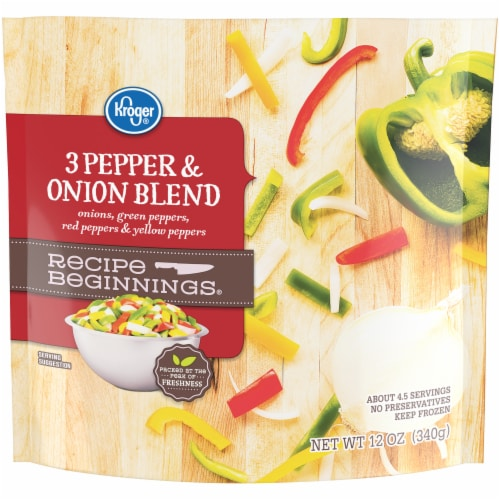 Kroger® Recipe Beginnings 3 Pepper & Onion Blend Perspective: front