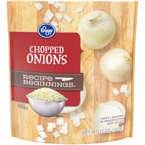 Kroger® Recipe Beginnings Chopped Onions Perspective: front