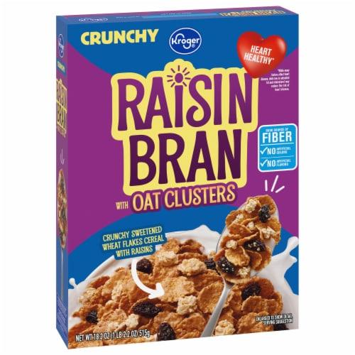 Kroger® Crunchy Raisin Bran Cereal Perspective: front