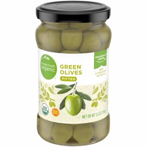 Simple Truth Organic™ Pitted Green Olives Perspective: front