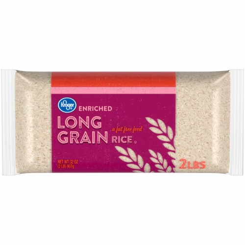Kroger Enriched Long Grain White Rice Perspective: front