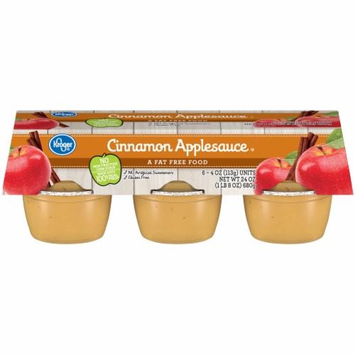 Kroger® Cinnamon Applesauce Cups Perspective: front
