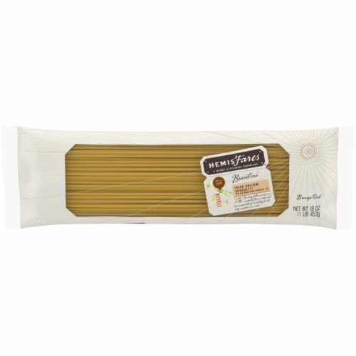 HemisFares™ Bucatini Thick Hollow Spaghetti Perspective: front