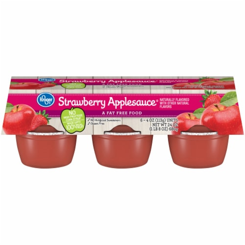Kroger® Strawberry Applesauce Cups Perspective: front