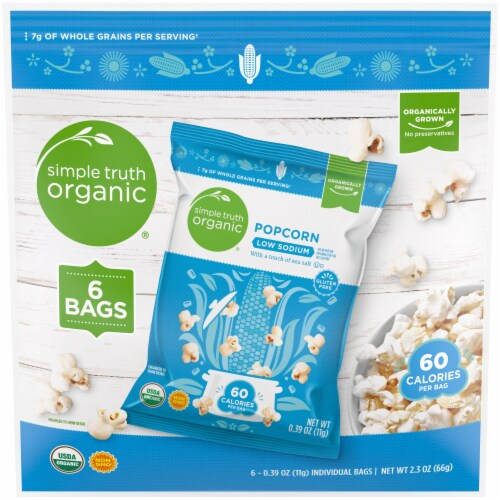 Simple Truth Organic® Low Sodium Popcorn (6 Pack) Perspective: front