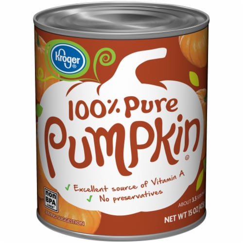 Kroger® 100% Pure Canned Pumpkin Perspective: front