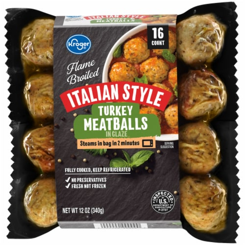 Kroger® Flame Broiled Italian Style Turkey Meatballs in Glaze Perspective: front