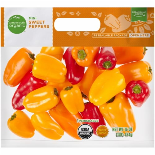 Simple Truth Organic™ Mini Sweet Peppers Perspective: front