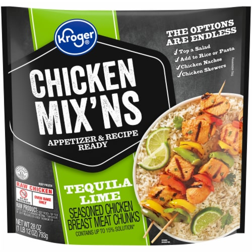 Kroger® Tequila Lime Chicken Mix'Ns Seasoned Chicken Breast Chunks Perspective: front