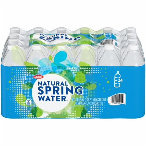 Ralphs Natural Spring Water Perspective: front
