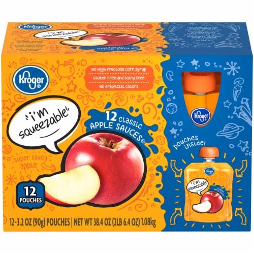 Kroger® Classic Apple Sauce Pouches Perspective: front