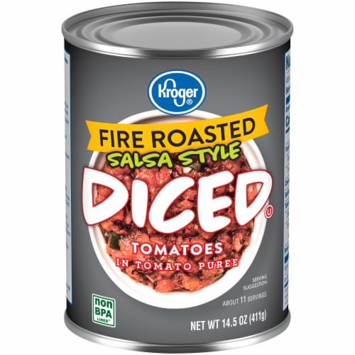 Kroger® Salsa Style Fire Roasted Diced Tomatoes Perspective: front