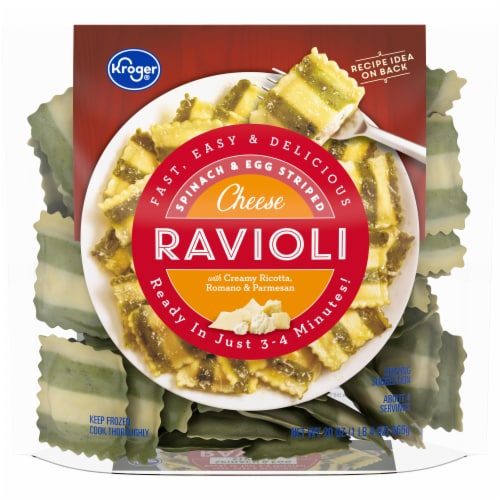 Kroger® Spinach & Egg Striped Cheese Ravioli Perspective: front