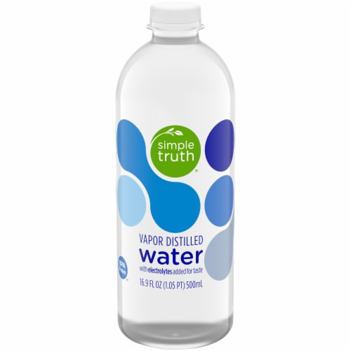 Simple Truth® Vapor Distilled Water with Electrolytes Perspective: front