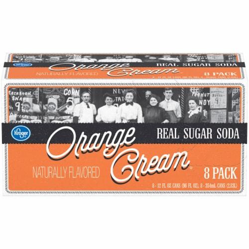 Kroger® Orange Cream Real Sugar Soda Perspective: front