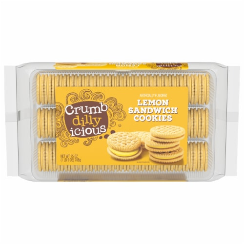 Crumbdillyicious™ Lemon Sandwich Cookies Perspective: front