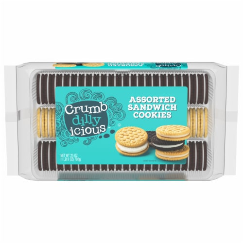 Crumbdillyicious™ Assorted Sandwich Cookies Perspective: front