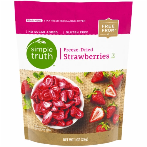 Simple Truth™ Freeze-Dried Strawberries Perspective: front