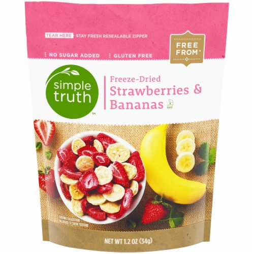Simple Truth™ Freeze-Dried Strawberries & Bananas Perspective: front