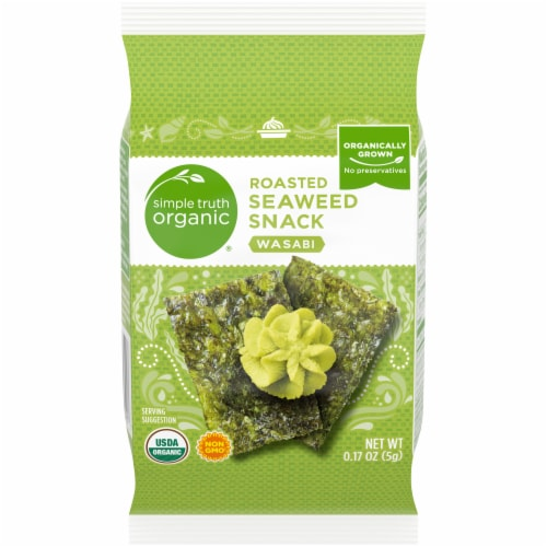 Simple Truth Organic® Wasabi Roasted Seaweed Snack Perspective: front