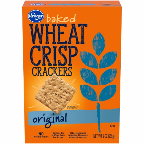 Kroger® Original Baked Wheat Crisp Crackers Perspective: front