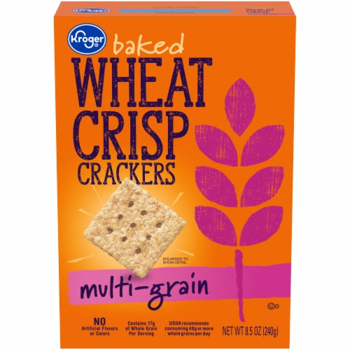 Kroger® Multi-Grain Baked Wheat Crisp Crackers Perspective: front
