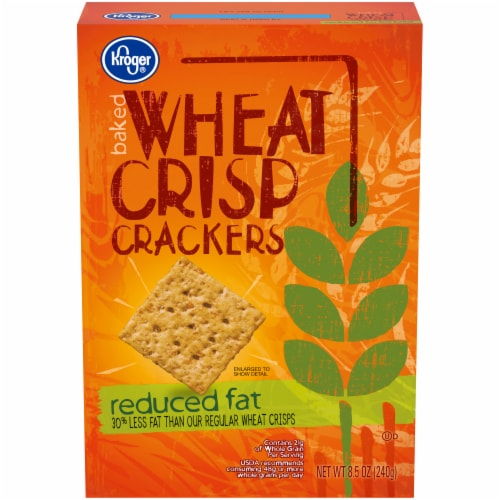 Kroger® Reduced Fat Baked Wheat Crisp Crackers Perspective: front