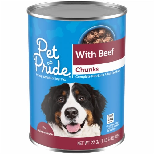 Pet Pride® Chunks with Beef Wet Dog Food Perspective: front