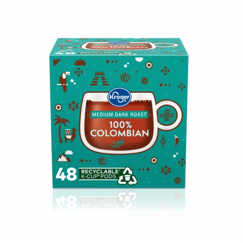 Kroger® Medium Dark Roast Colombian Coffee K-Cup Pods Perspective: front