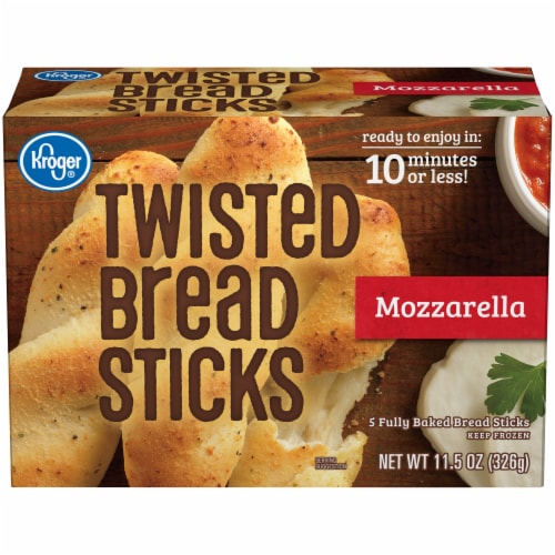 Kroger® Mozzarella Twisted Bread Sticks Perspective: front