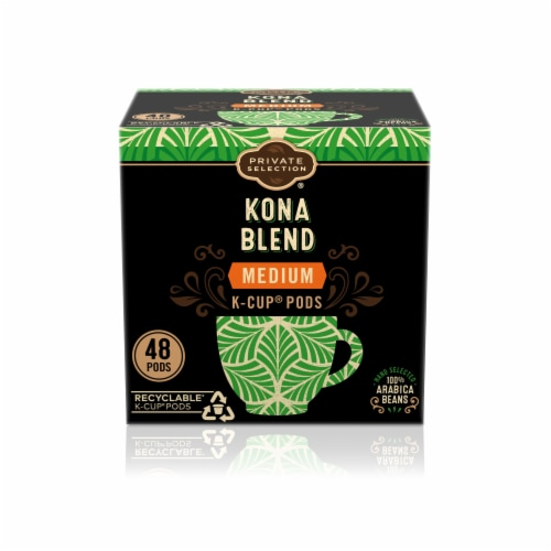 Private Selection® Kona Blend Medium Roast Coffee K-Cup Pods Perspective: front
