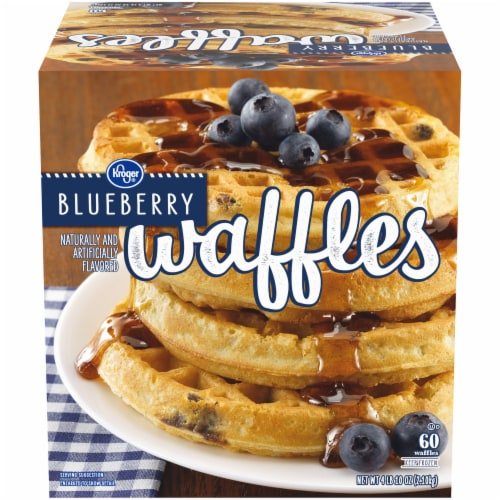 Kroger® Blueberry Waffles Perspective: front