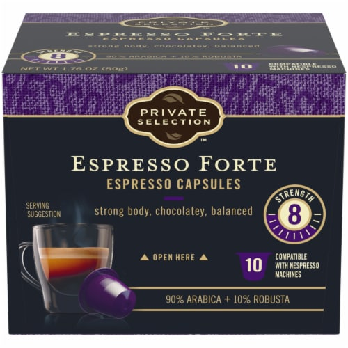 Private Selection™ Espresso Forte Capsules Perspective: front
