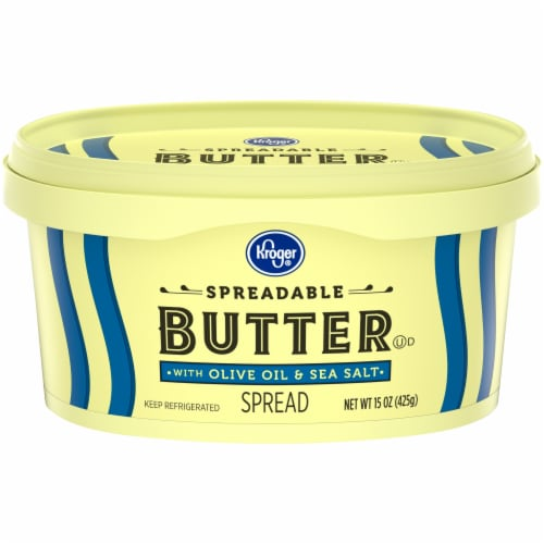 Kroger® Spreadable Butter with Olive Oil & Sea Salt Perspective: front