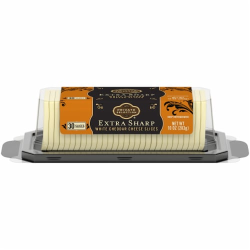 Private Selection® Sliced Extra Sharp White Cheddar Cheese Perspective: front