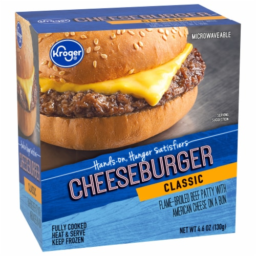 Kroger® Classic Cheeseburger Perspective: front