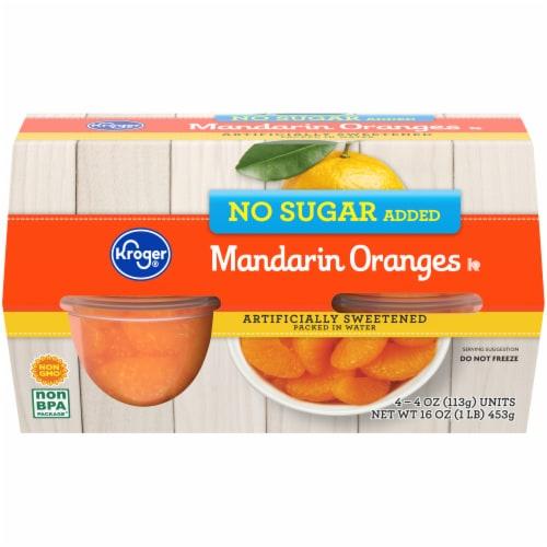 Kroger® No Sugar Added Mandarin Oranges Bowls Perspective: front