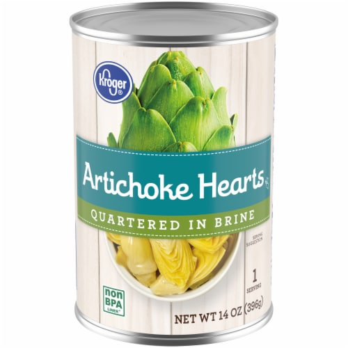 Kroger® Quartered Artichoke Hearts in Brine Perspective: front