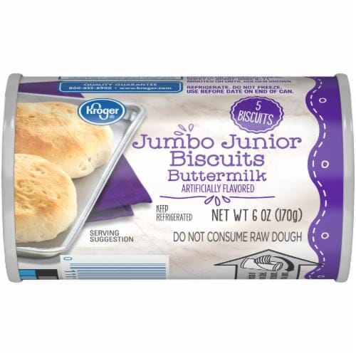 Kroger® Buttermilk Jumbo Junior Biscuits Perspective: front