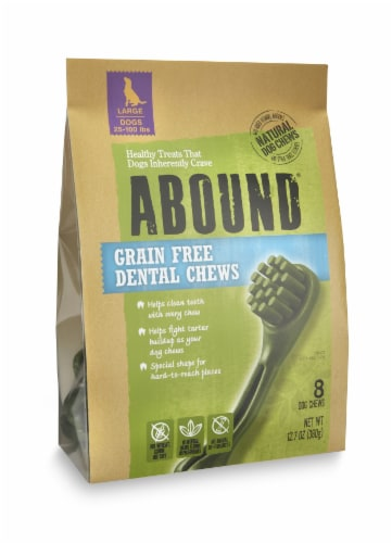 ABOUND™ Grain Free Dental Chews for Large Dogs Perspective: front