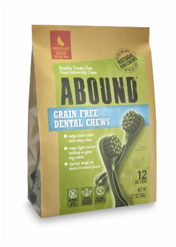 Abound® Grain Free Dental Chews for Regular Dogs Perspective: front