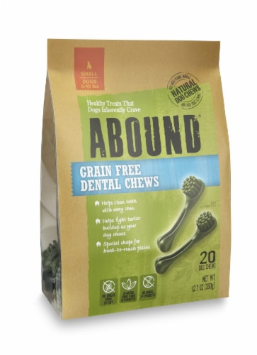 Abound® Grain Free Dental Chews for Small Dogs Perspective: front