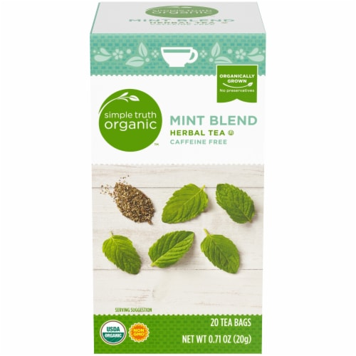 Simple Truth Organic™ Mint Blend Herbal Tea Bags Perspective: front