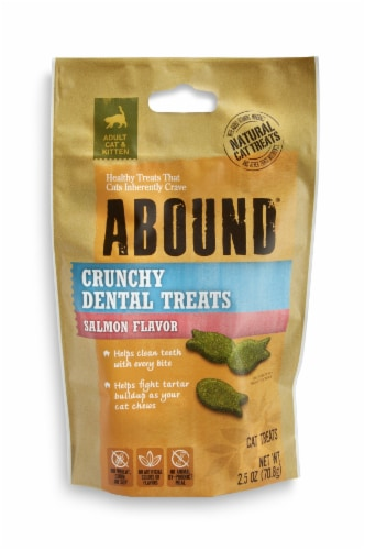 Abound® Salmon Flavor Crunchy Dental Cat Treats Perspective: front